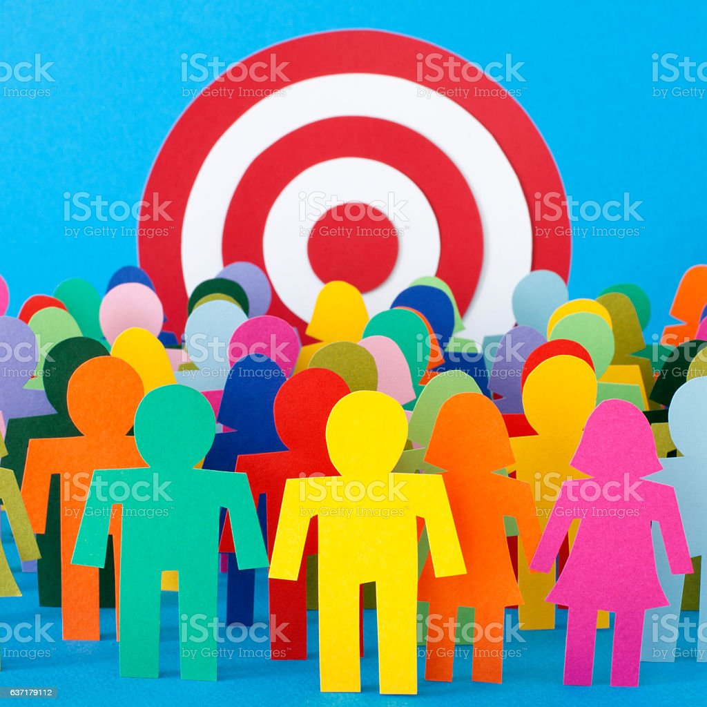 Targeted people stock photo