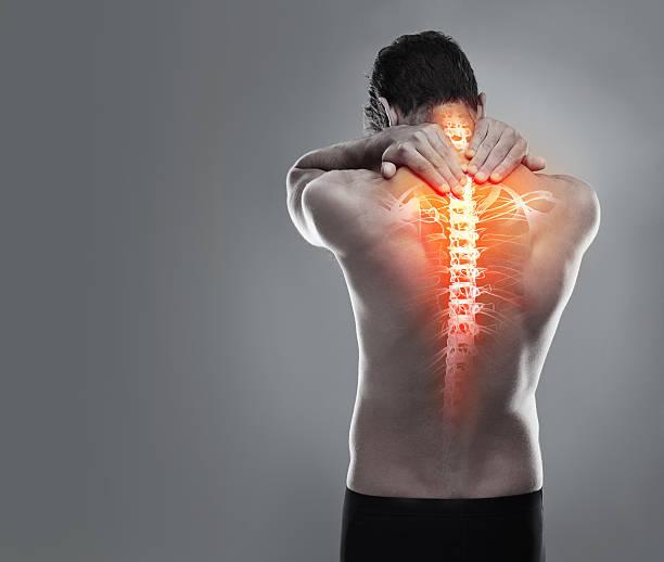 Targeting back pain stock photo