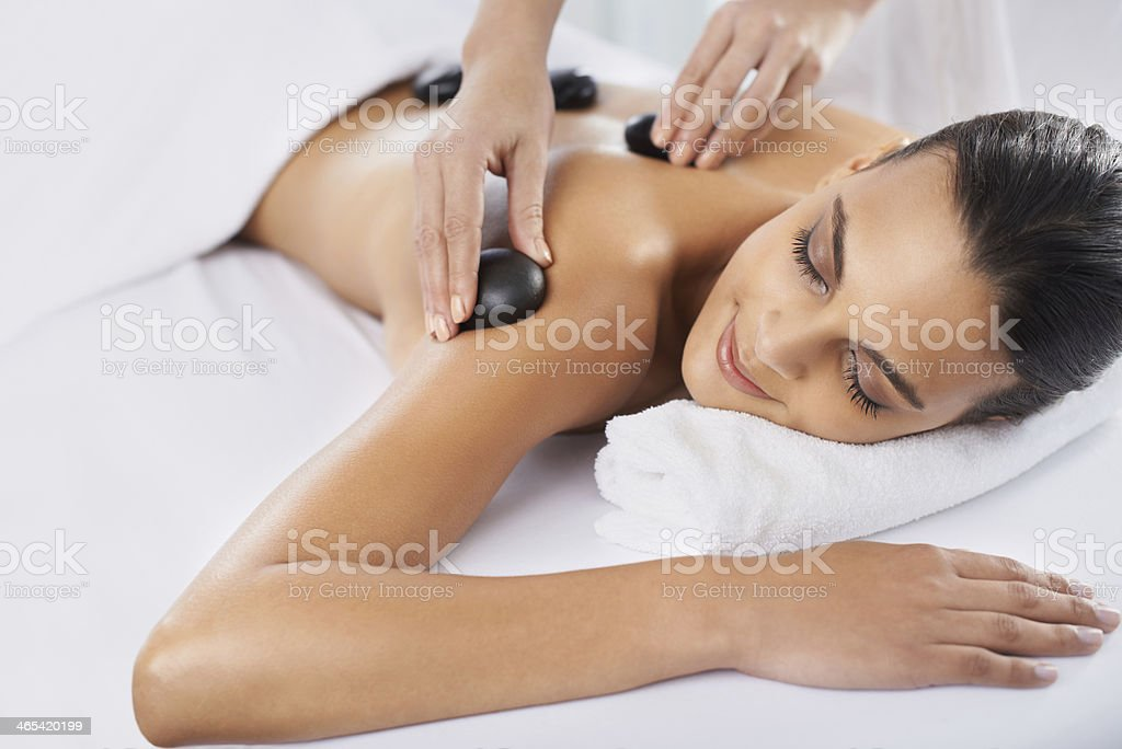 Targeting that muscle tension stock photo