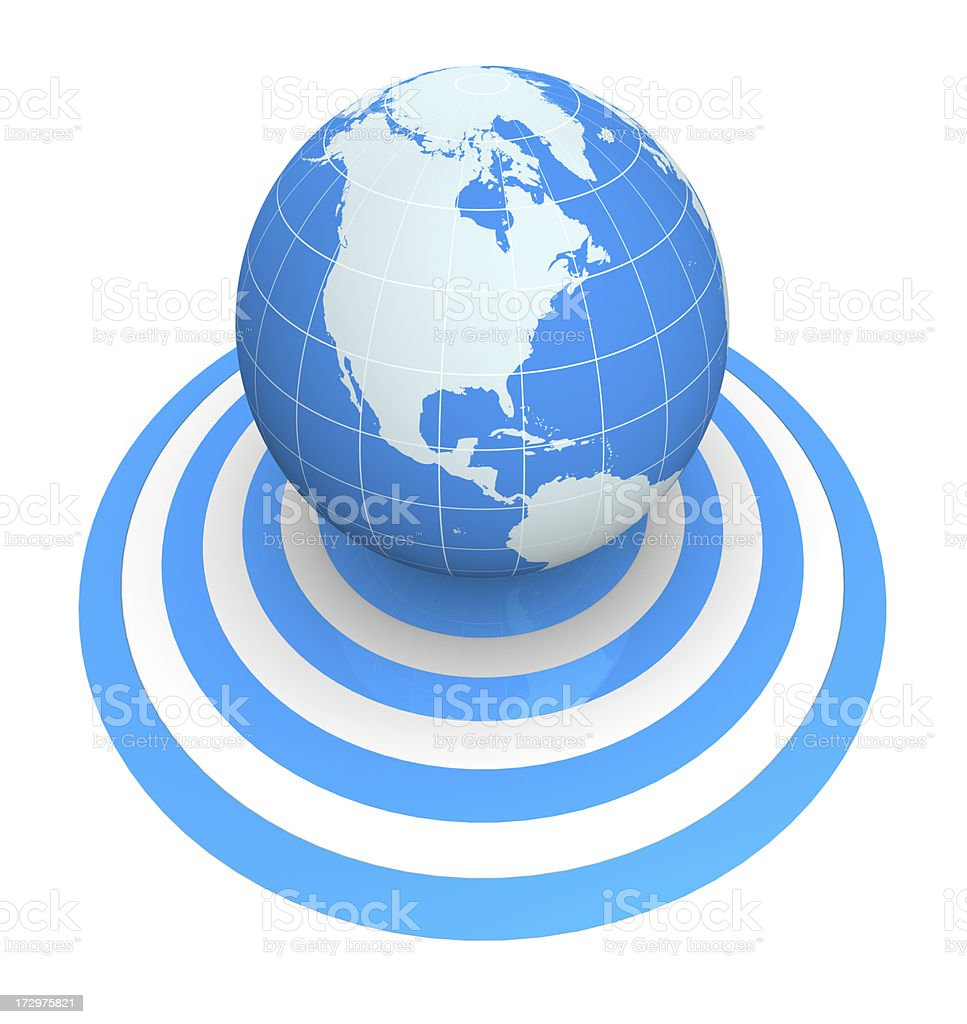 Targeting the world royalty-free stock photo