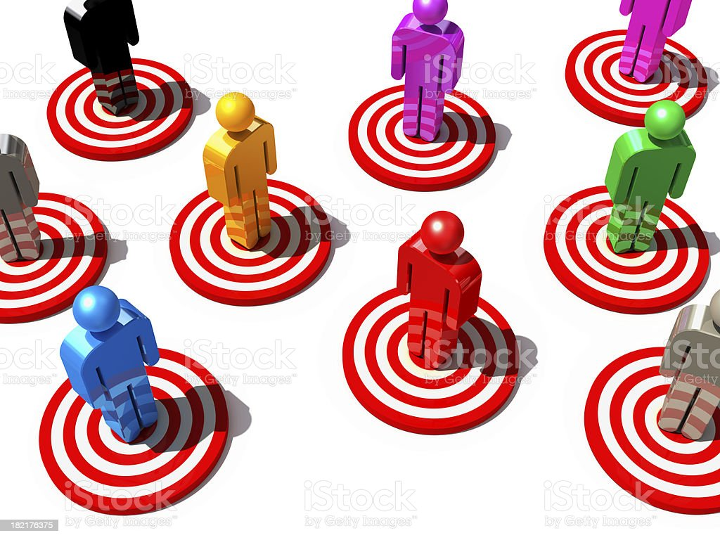 targets royalty-free stock photo