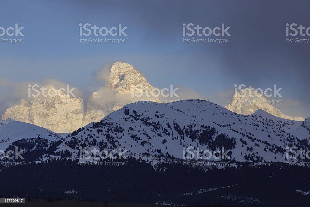 Targhee Sunset stock photo
