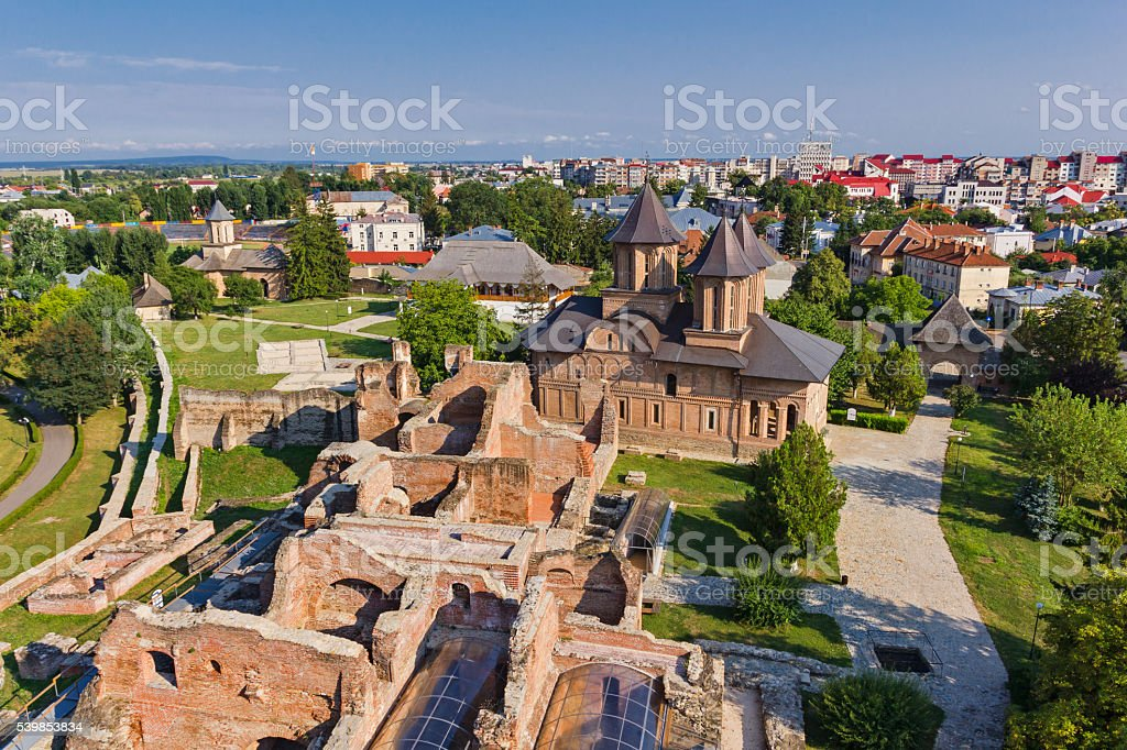 Targoviste old town ruins stock photo