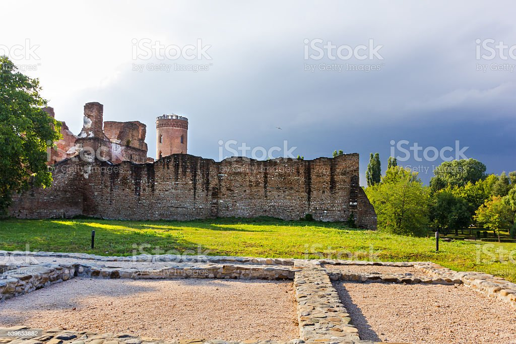 Targoviste old town walls stock photo
