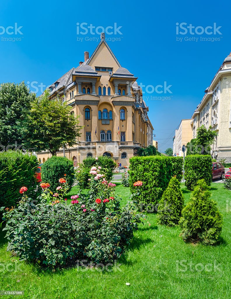 Targu Mures city center stock photo