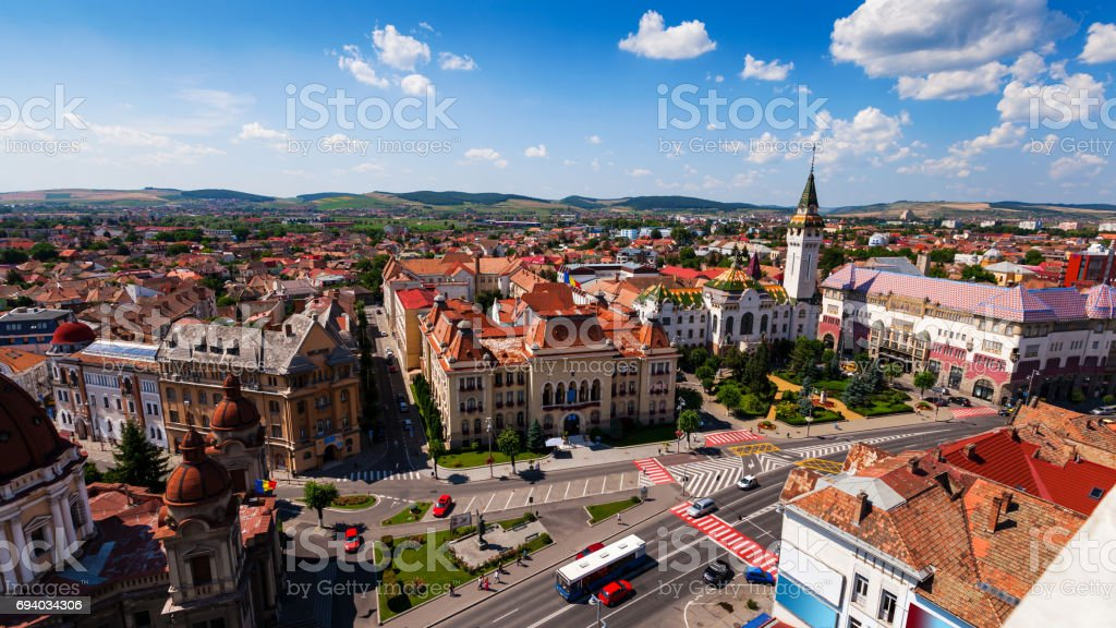 Targu Mures on a sunny day stock photo