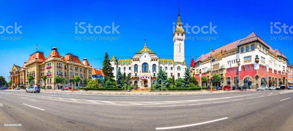 Targu-Mures, Romania, Europe. Street view of the Administrative stock photo