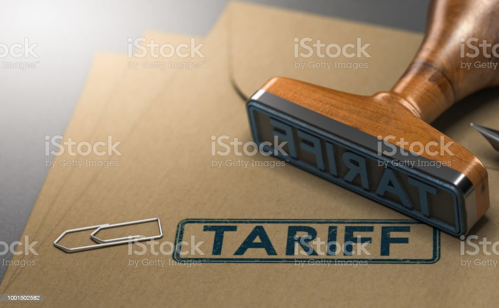 Tariff, Taxes on Imported Goods stock photo