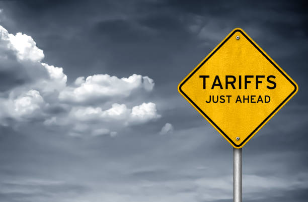 Tariffs - just ahead Tariffs - just ahead trade war stock pictures, royalty-free photos & images