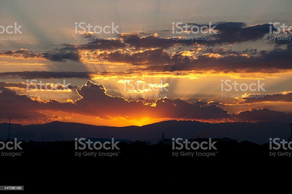 Tarlac Sunset stock photo