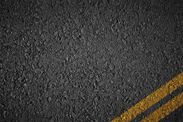 tarmac texture with strpies - asfalto foto e immagini stock