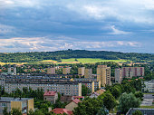 istock Tarnow city, Poland. View of St. Martin Mount from Battle of Monte Cassino Street. 858114440