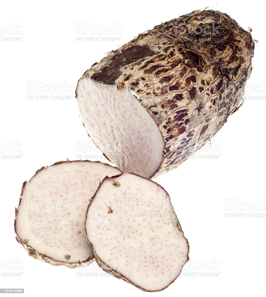 Taro Root Yam Vegetable royalty-free stock photo