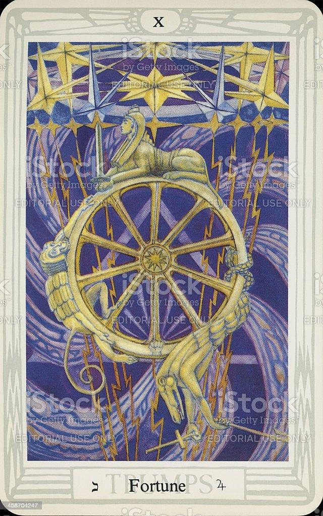 Tarot Card - Fortune stock photo