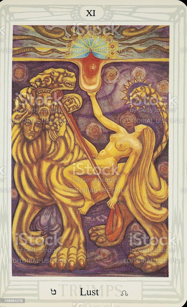 Tarot Card - Lust stock photo