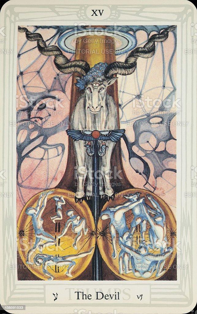 Tarot Card - The Devil stock photo