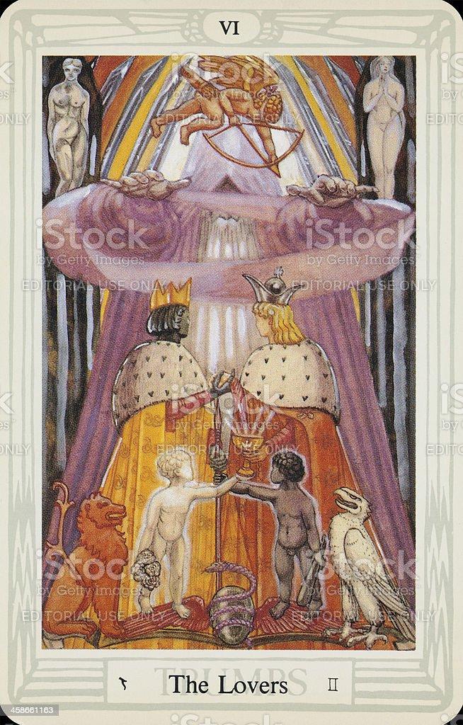 Tarot Card - The Lovers stock photo