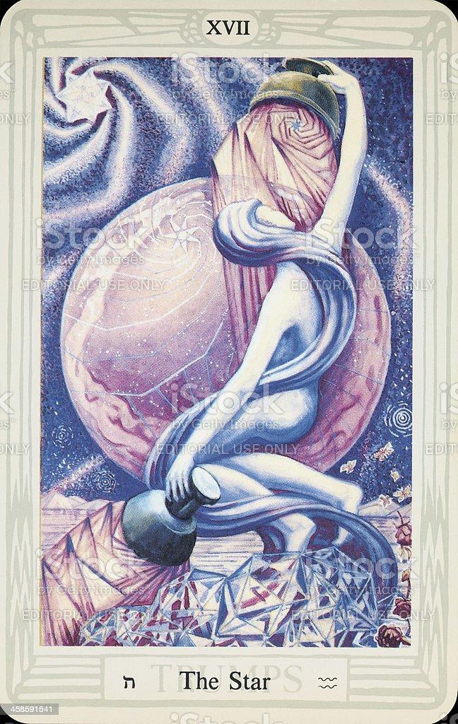 Tarot Card - The Star stock photo