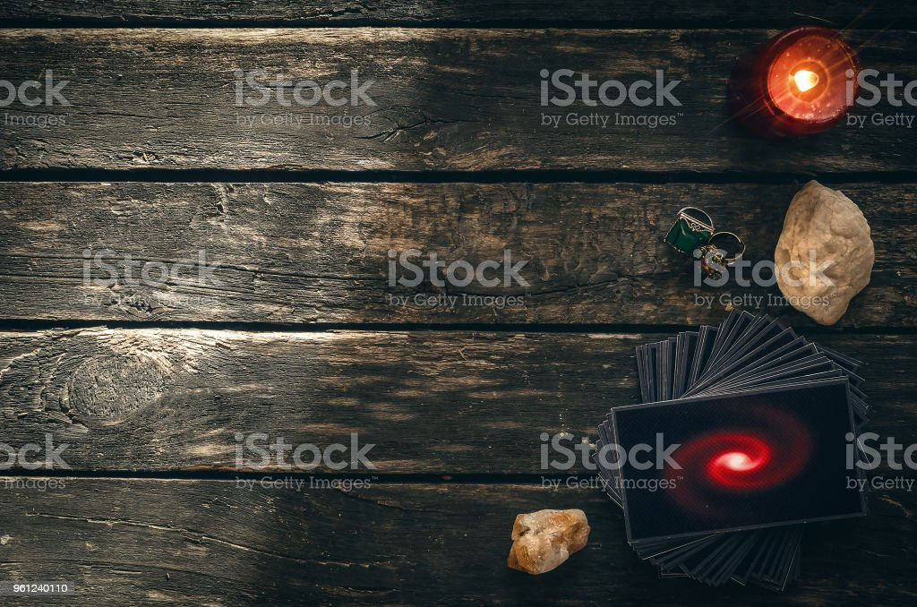Tarot Cards Divination Future Reading Stock Photo - Download