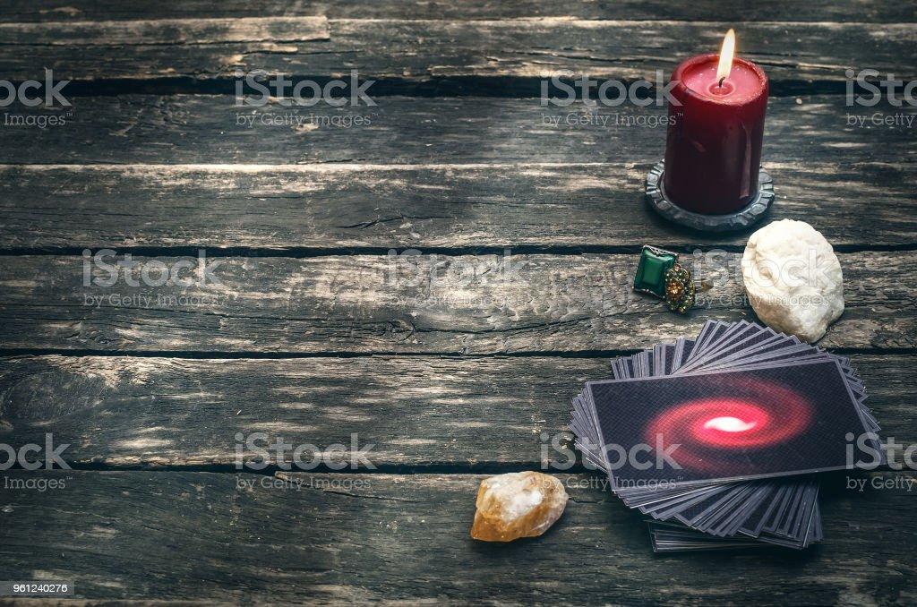 Tarot Cards Divination Future Reading Stock Photo & More