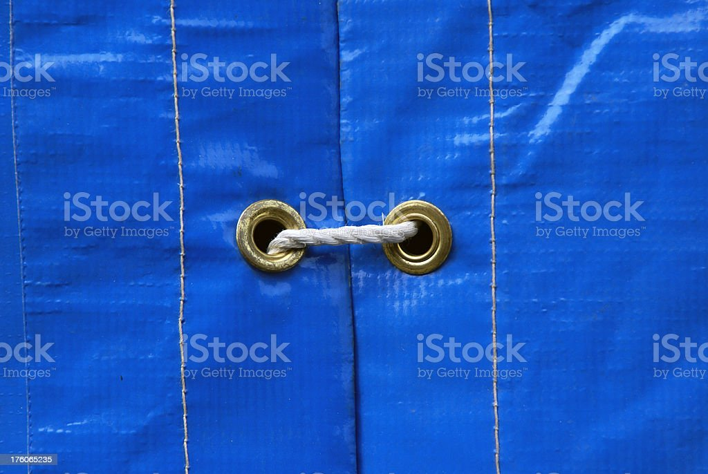 Tarp with Grommets and Rope stock photo