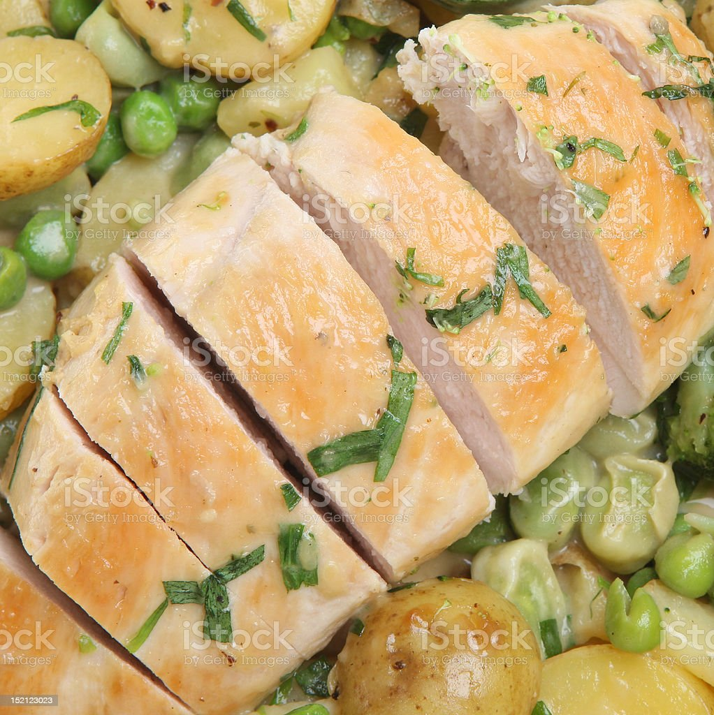 Tarragon Chicken Breast with Vegetables royalty-free stock photo