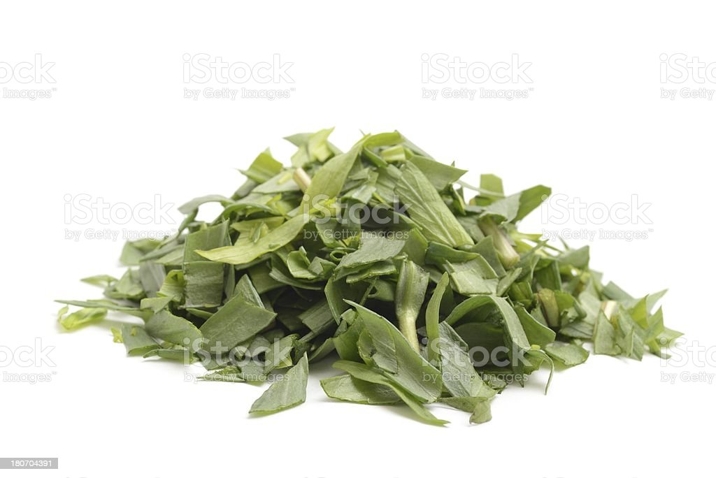 Tarragon leaves chopped royalty-free stock photo