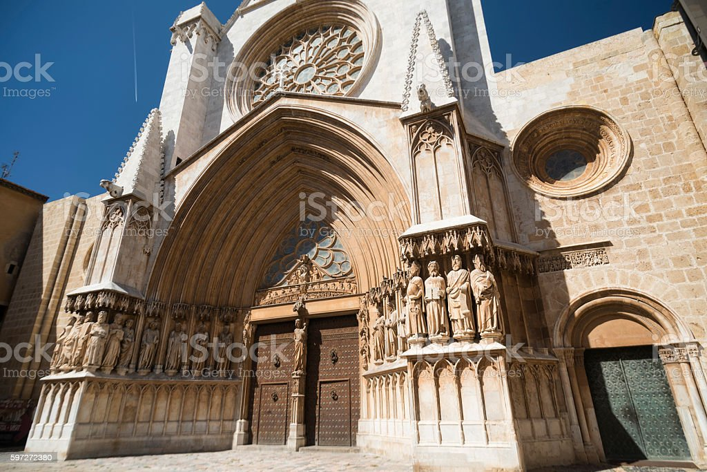 Tarragona (Spain): gothic cathedral royalty-free stock photo