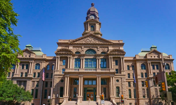 Tarrant County Courthouse in Fort Worth, Texas stock photo