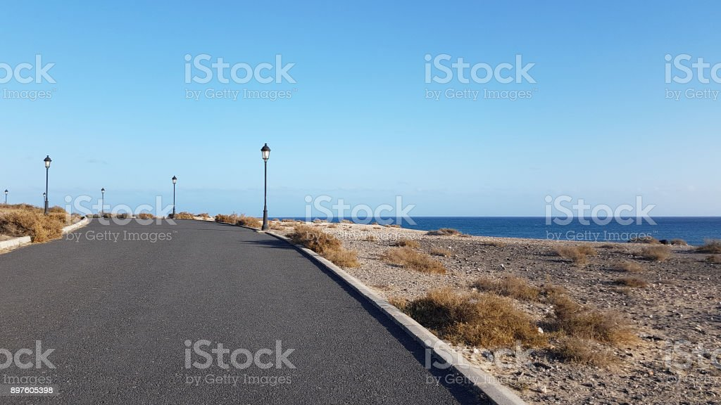 A tarred road stock photo