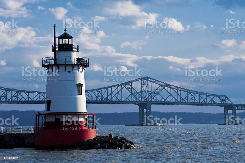 Tarrytown lighthouse stock photo