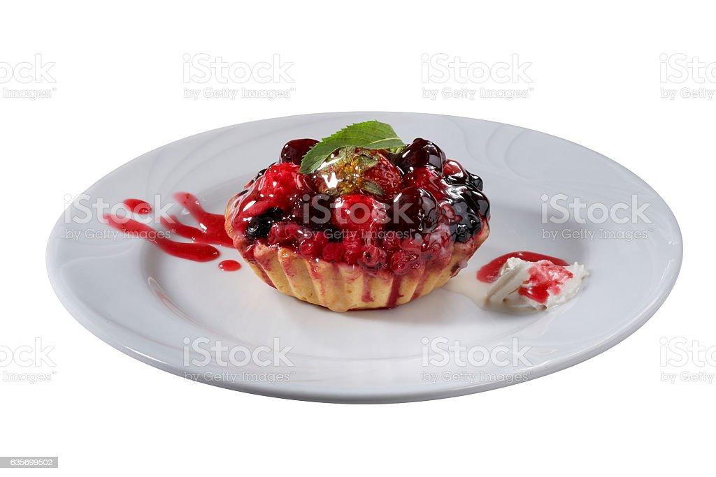 tart on plate royalty-free stock photo