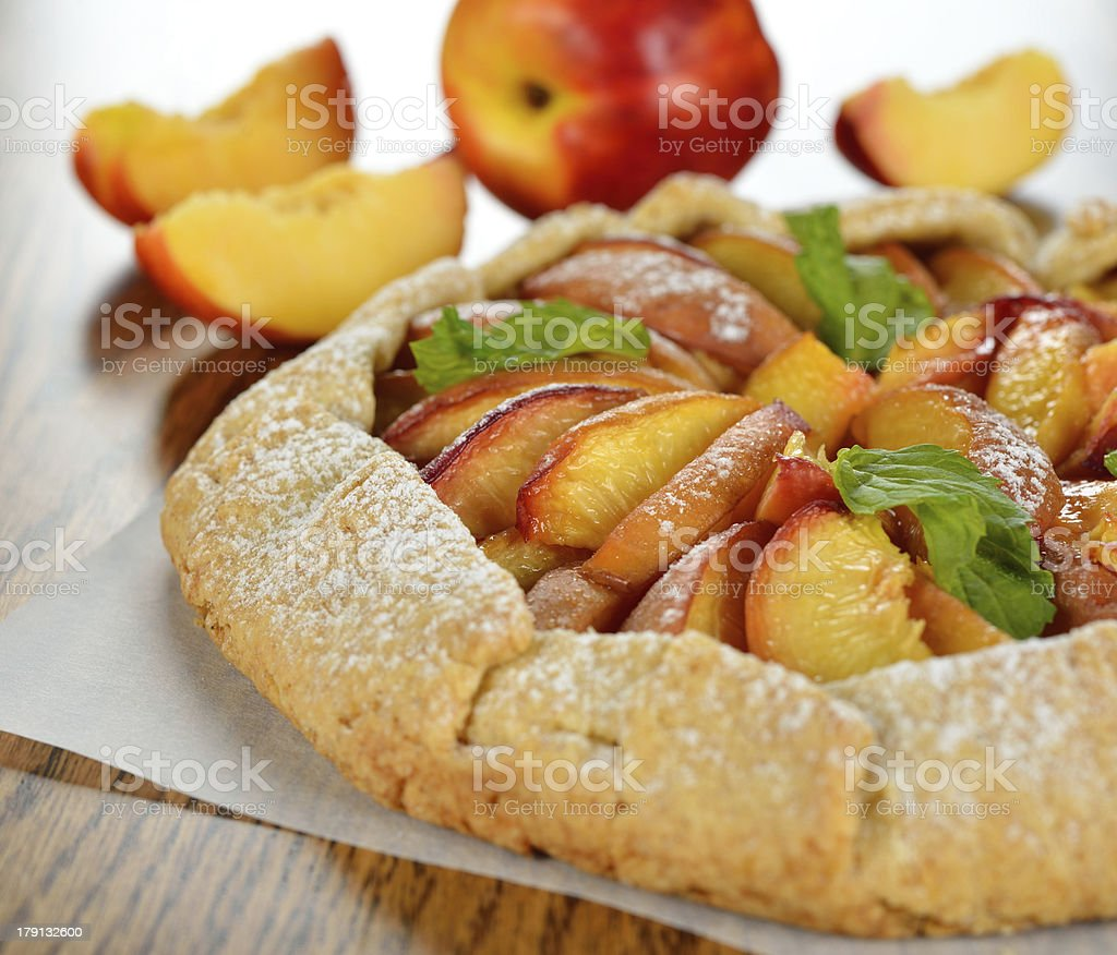Tart with nectarines stock photo