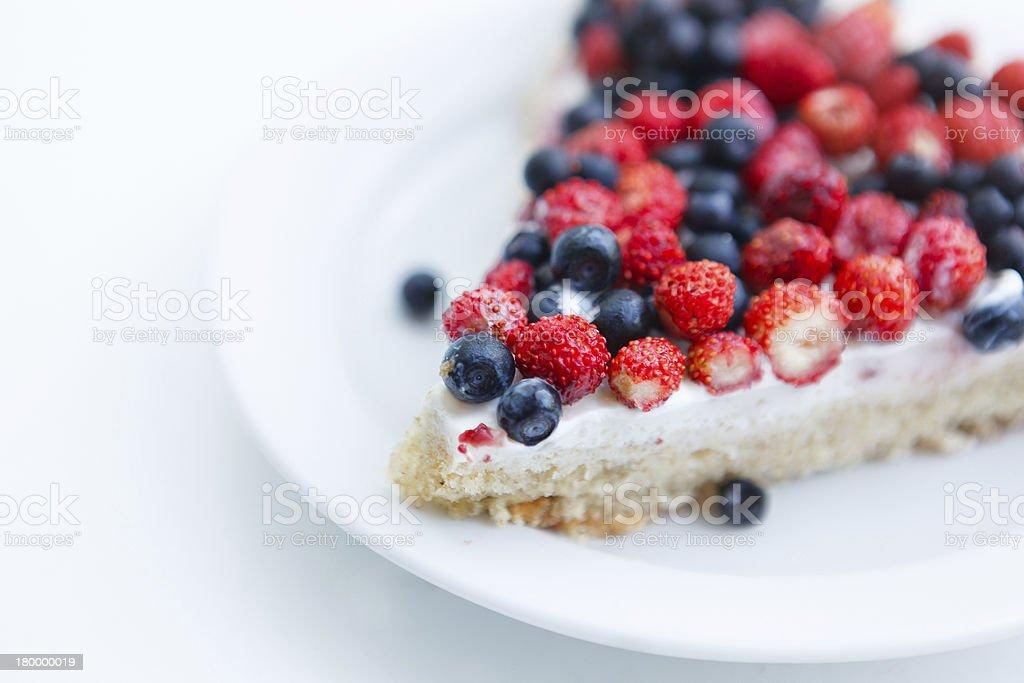 타르트 딸기, 블루베리. royalty-free 스톡 사진