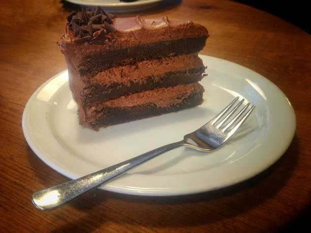 Tarta de chocolate stock photo