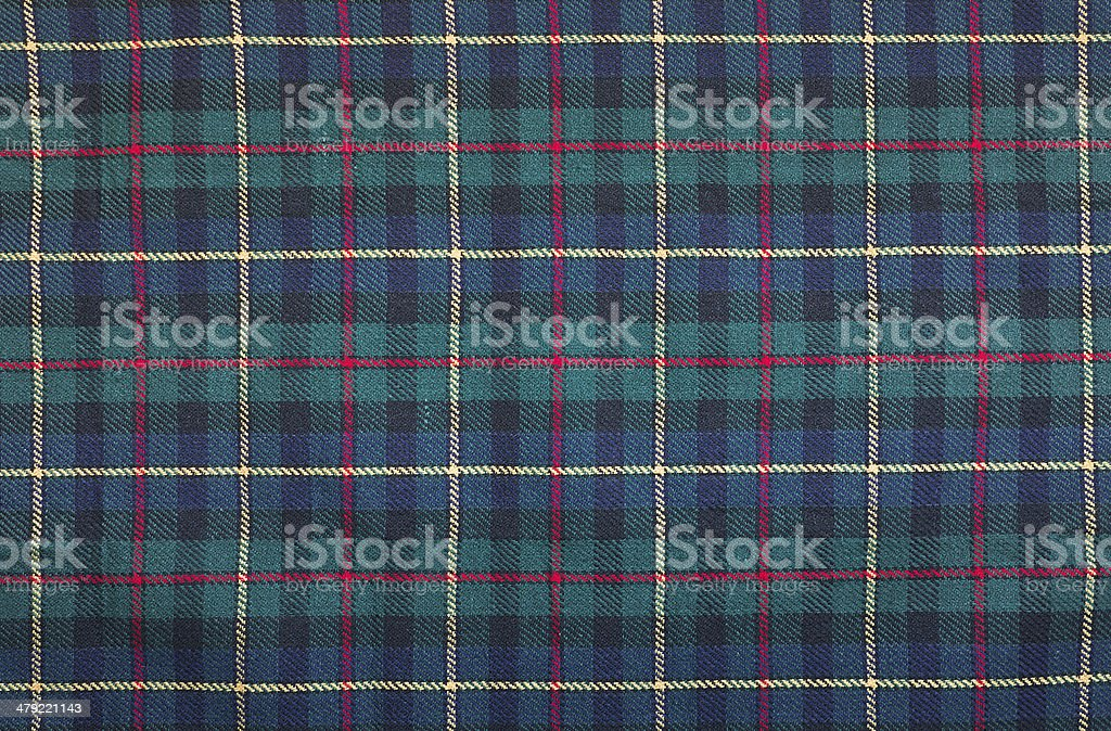 Tartan blanket background stock photo