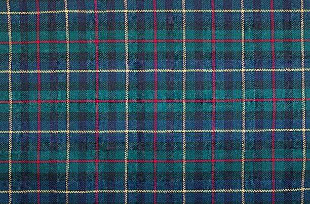 Tartan blanket background Scottish tartan background a checked plaid weave pattern with red, green blue and yellow colours. plaid stock pictures, royalty-free photos & images