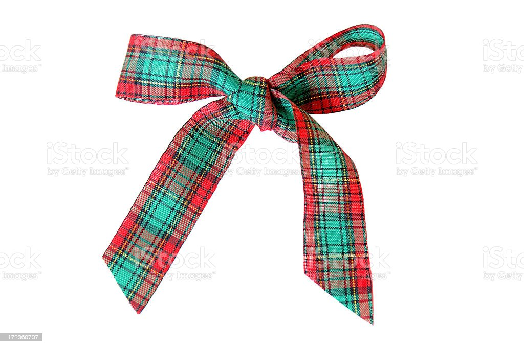 Tartan bow stock photo