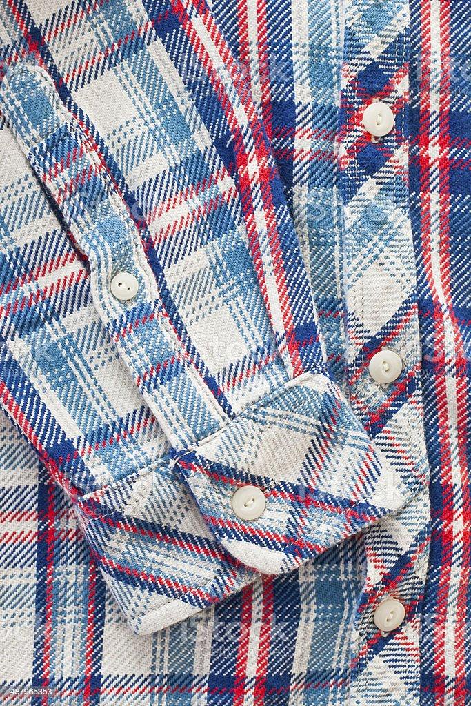 Tartan shirt stock photo