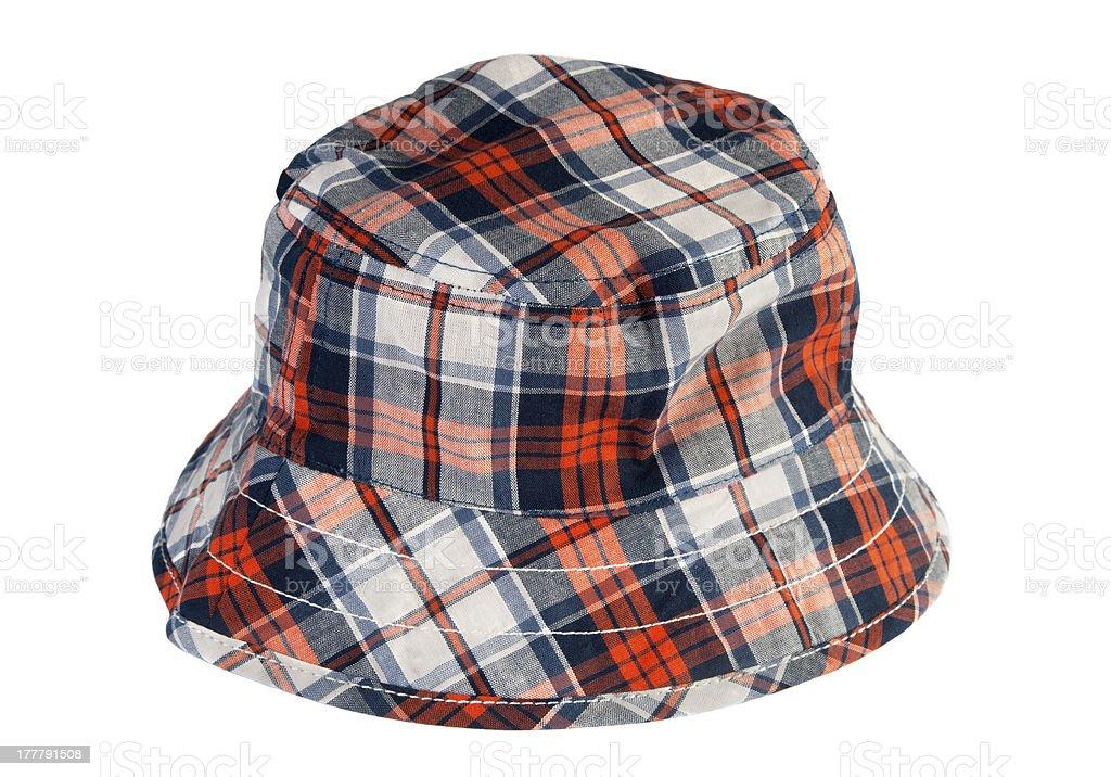 Tartan summer hat stock photo