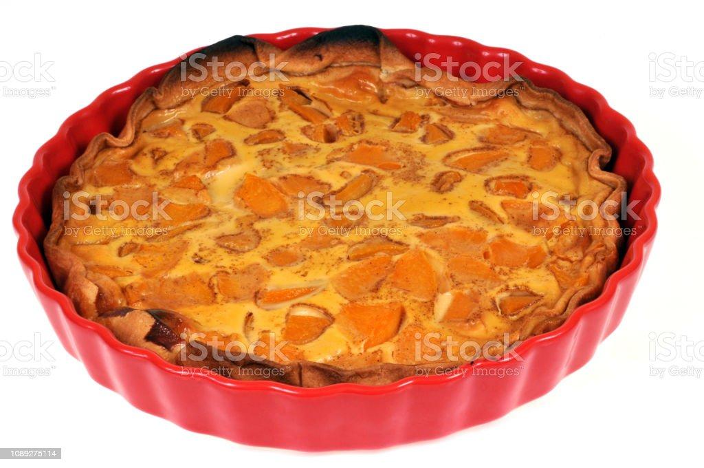 Tarte aux abricots stock photo