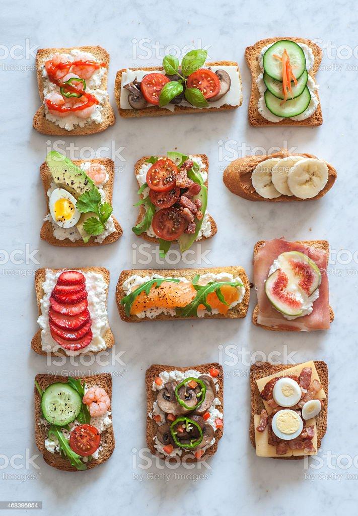 Tartines stock photo