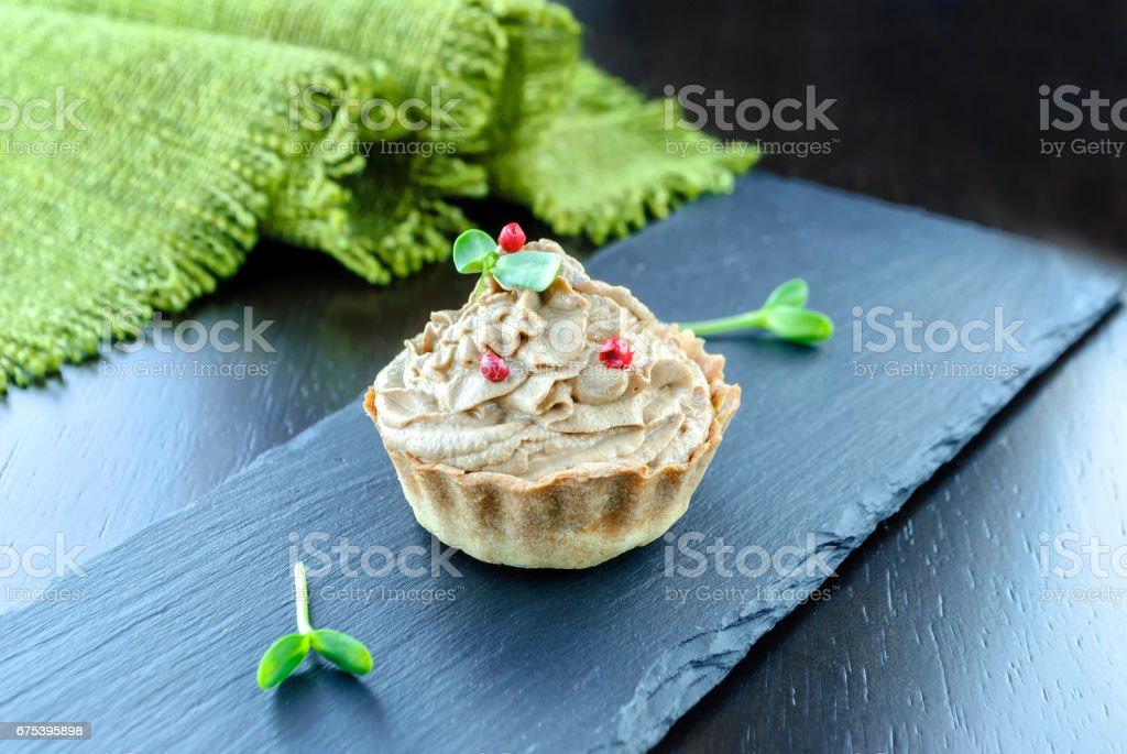 Tartlet with meat pie photo libre de droits