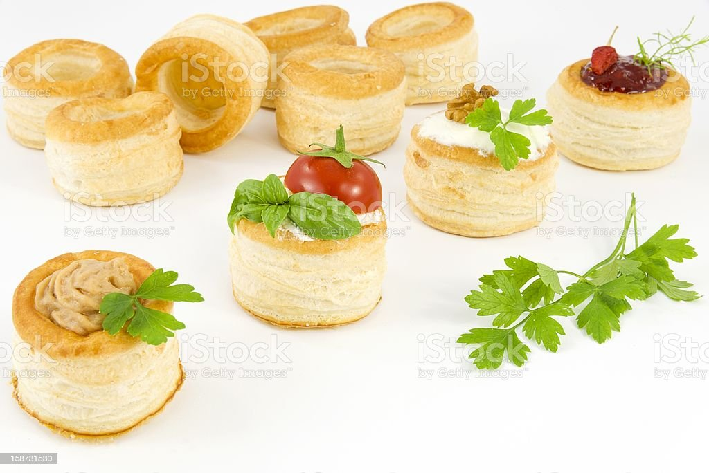 tartlets filled royalty-free stock photo