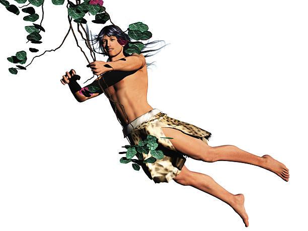 Tarzan king of the jungle isolated stock photo