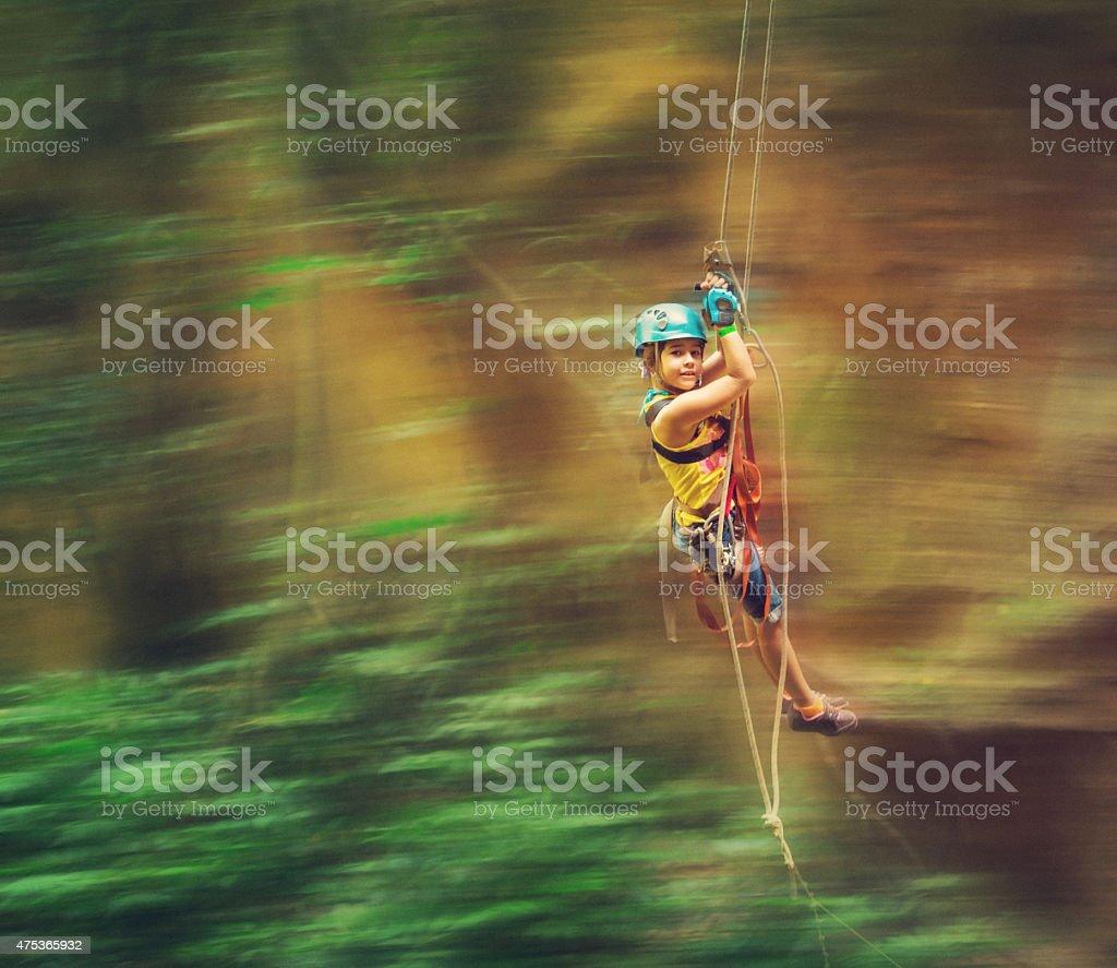 tarzan swing lines in costa rica stock photo