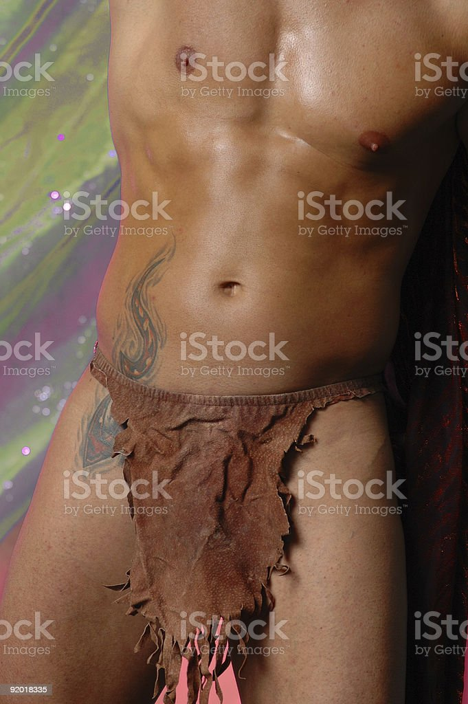 Tarzan's crotch stock photo