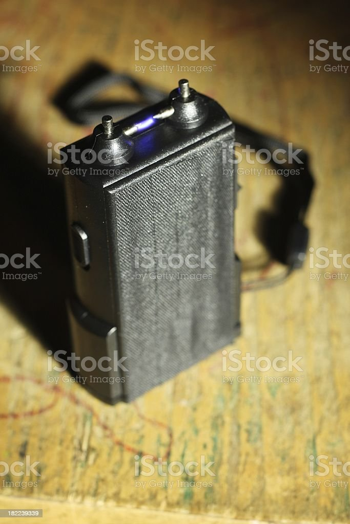 Taser Electric Arc stock photo