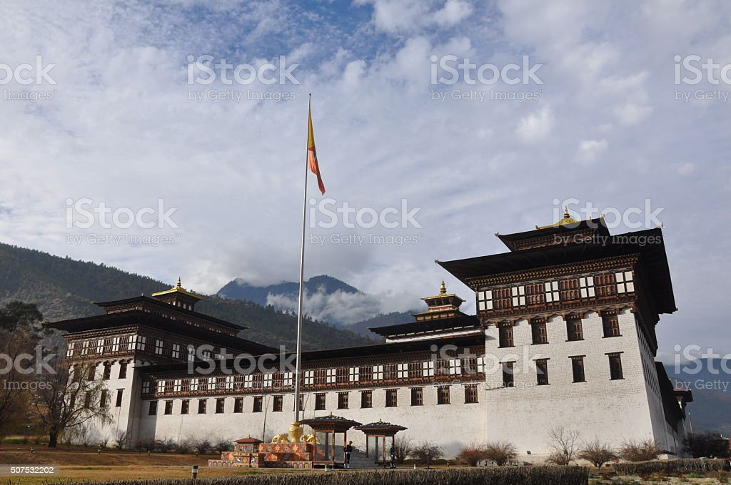 Tashichho Dzong, Thimphu, Bhutan stock photo