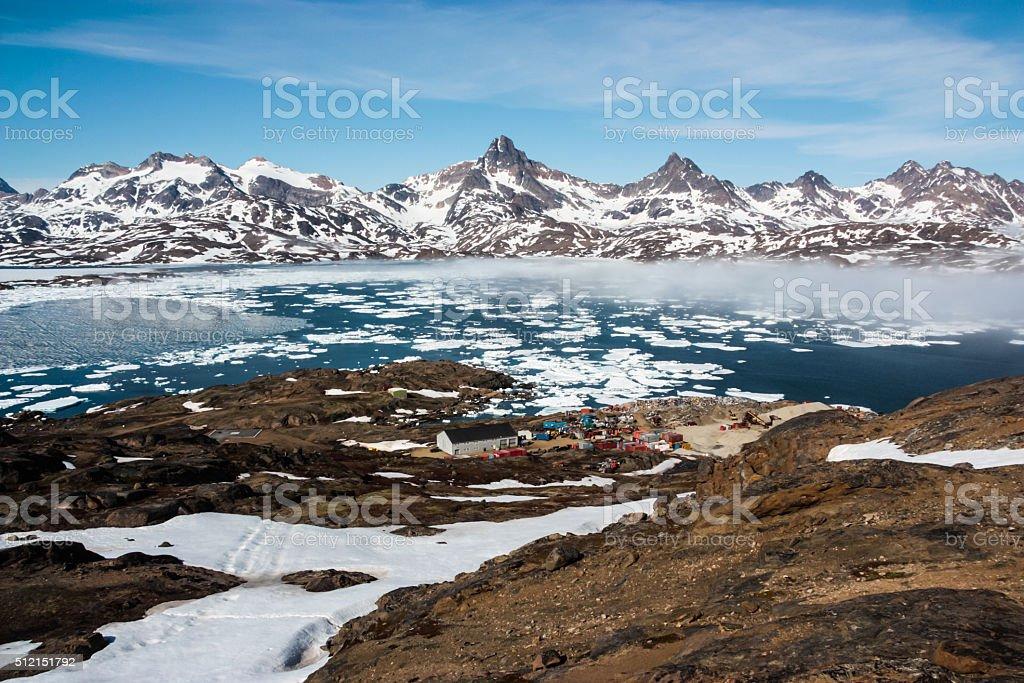 Tasiilaq Fjord Fog stock photo